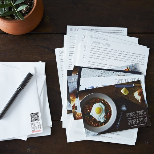 KITCHEN LETTERS $35-$60  Kitchen Letters are letters in the mail from chefs–connecting foodies and chefs around the country. Letters have been penned by Marisa McClellan of Food in Jars, Phoebe Lapine of Feed Me Phoebe, John Beaver of Oaktown Spice Shop, Diana Hardeman of MilkMade Ice Cream, and Agatha + Erin of Ovenly. Rumor has it the line up for 2014 includes Evan Kleiman of Good Food on NPR (KCRW), Dominique Ansel and Mast Brothers (plus a bunch more). The letters are stuffed with anecdotes, tips + tricks, and a seasonal, simple recipe, and sent out twice a month.  Kitchen from Holiday Gift Guide: For the Chef