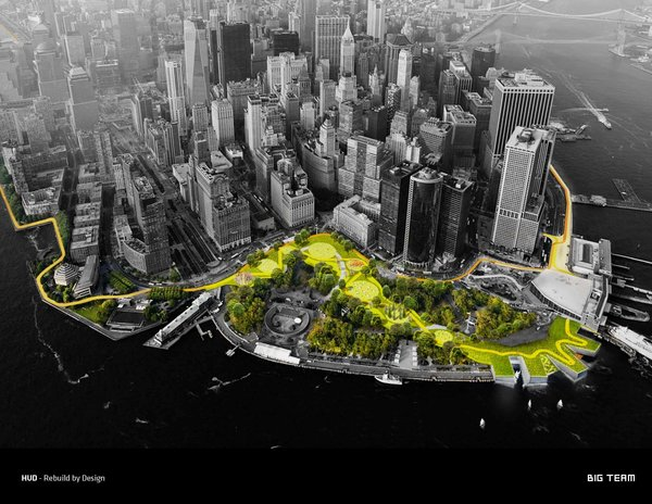 The Big U is the firm's ambitious plan to protect Manhattan from a Sandy-like hurricane by ringing the lower half of the island with 10-foot, sculptural berms.