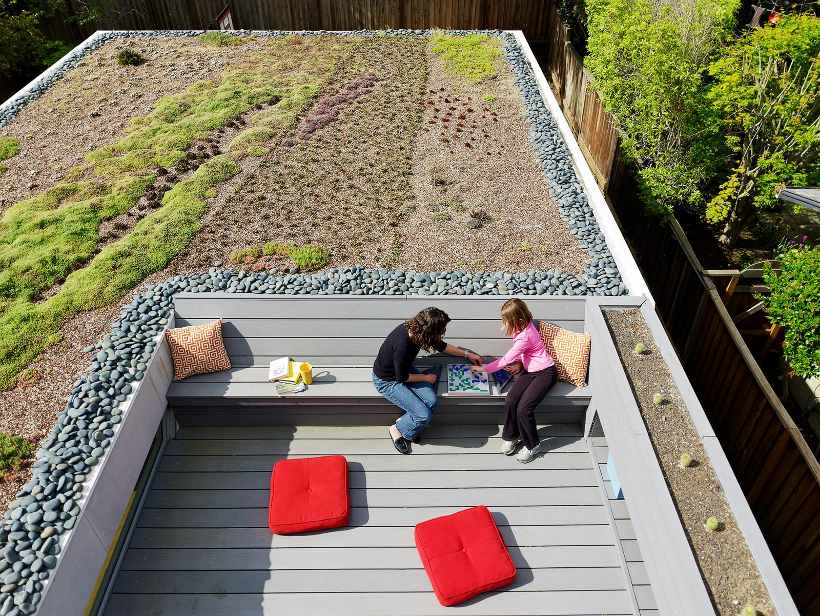 """Outdoor """"In this project, we got so much benefit out of this """"secret garden"""" for the master suite along with all of these environmental benefits that the residents were excited to embrace. It's one of the pieces we are happiest about,"""" says Feldman. Read the full article here.  Photo 8 of 11 in 10 Modern Rooftops For Summer Relaxing and Entertaining from Bar Method"""