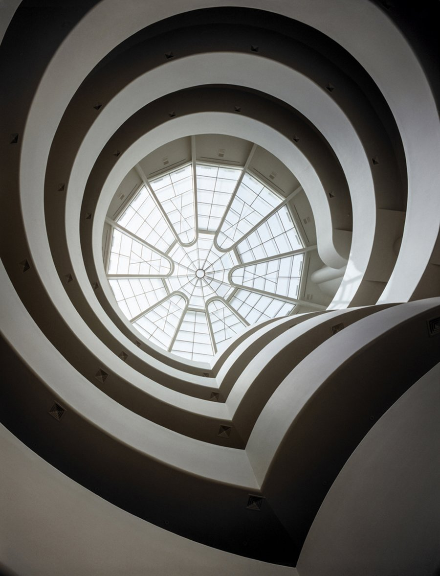 Solomon R. Guggenheim Museum (1943, New York, New York). The museum, with its sweeping spiral staircase, is an international icon.  Iconic Frank Lloyd Wright Buildings by Allie Weiss