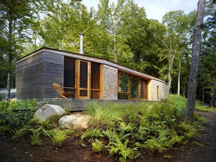 Exterior, Cabin Building Type, Shingles Roof Material, and Wood Siding Material superrkül dubbed this project the Stealth Cabin because it's hidden in the landscape and will continue to recede in view over time. Photo by Shai Gil.  Stealth Cabin by Kelsey Keith