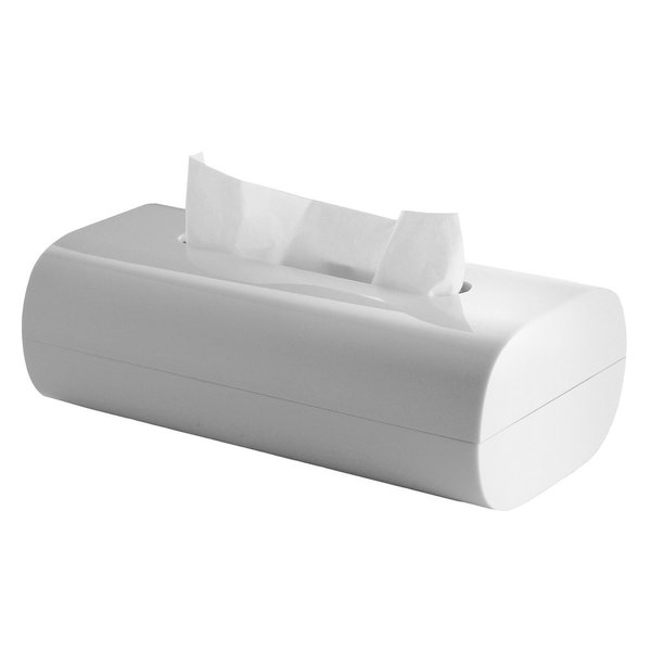 Envisioned by Piero Lissoni, the Birillo Tissue Box is a sleek take on an everyday essential. Crafted from shatter-proof, opaque white PMMA, the cleverly designed bathroom accessory smartly stows a traditional rectangular tissue box. Rounded corners complete the design for a minimal and modern finish.