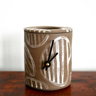 Clock by Geoff McFetridge, $550. Photo by Heath Ceramics.
