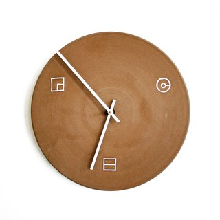 Clock by Commune, $400. Photo by Heath Ceramics.