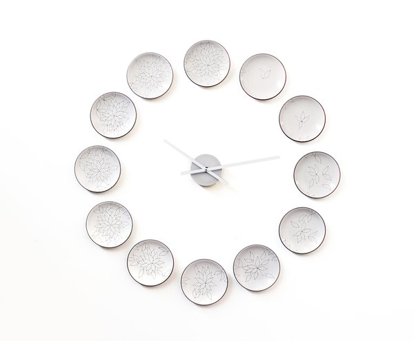 Clock by Natalie Chanin, $1200. Photo by Heath Ceramics.
