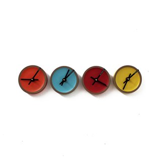 Clock by Tung Chiang, $550 for series of four. Photo by Heath Ceramics.
