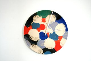 Clock by Roger Herman, $850. Photo by Heath Ceramics.