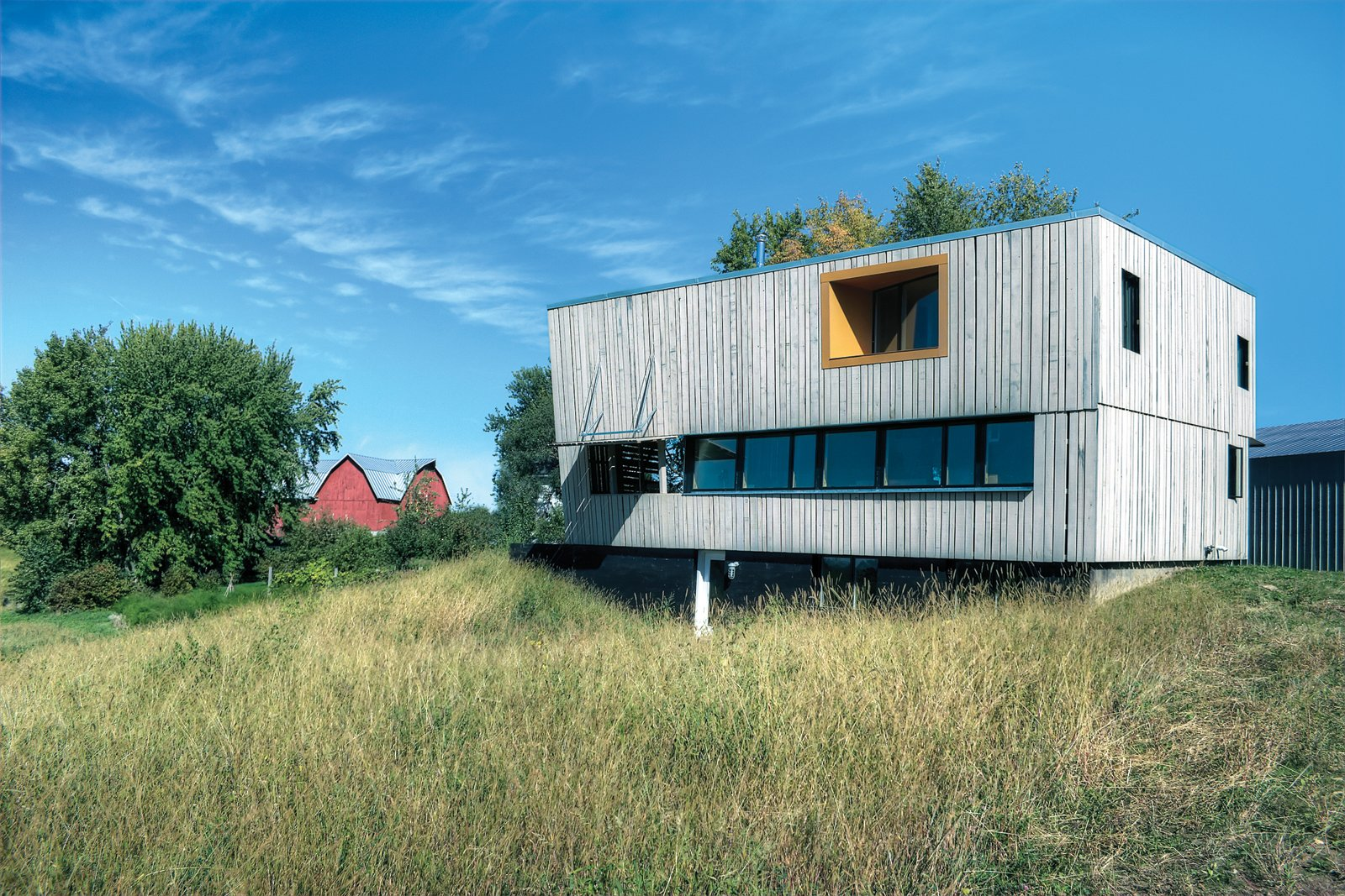 Exterior and Prefab Building Type At $167 per square foot, this high-design, low-cost barn in rural Wisconsin is an American idyll.    Striking Designs in Wisconsin by William Lamb