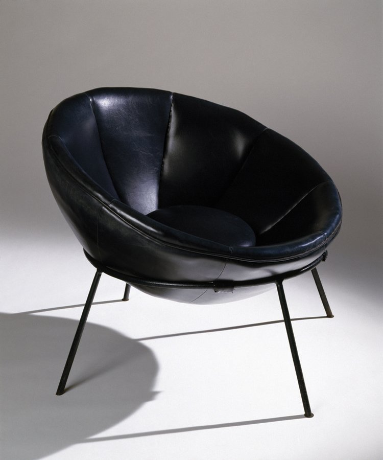 Lina Bo Bardi's modernist vision did not stop at architecture; she also delved into furniture design. Here, the Bardi Bowl chair in steel and leather from 1951. Photo by Nelson Kon.  Photo 9 of 10 in A Look Back at Lina Bo Bardi