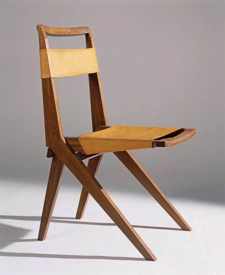 Lina Bo Bardi, foldable chair in wood and leather (1948). Photograph by Nelson Kon.  Want to read more? Check out Lina Bo Bardi by Zeuler R. M. de A. Lima, out this month from Yale Press.  Photo 10 of 10 in A Look Back at Lina Bo Bardi