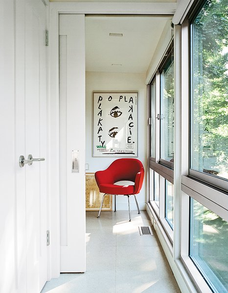 Alan Orenbuch and Bryan O'Rourke bought a house and shed, both designed by John M. Johansen, north of New York City in 2009. The shed became a refuge for their many houseguests after an extensive renovation that trimmed the structure to 385 square feet.