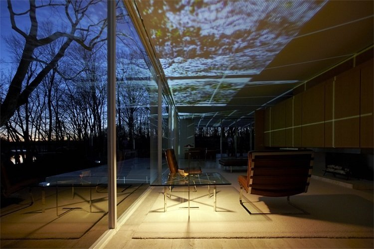 INsite: Farnsworth House Light Show. These photographs are offered as pledges to backers of the Kickstarter, which ends May 31. Photo by Kate Joyce  Photo 2 of 2 in Lighting Up Mies van der Rohe's Farnsworth House