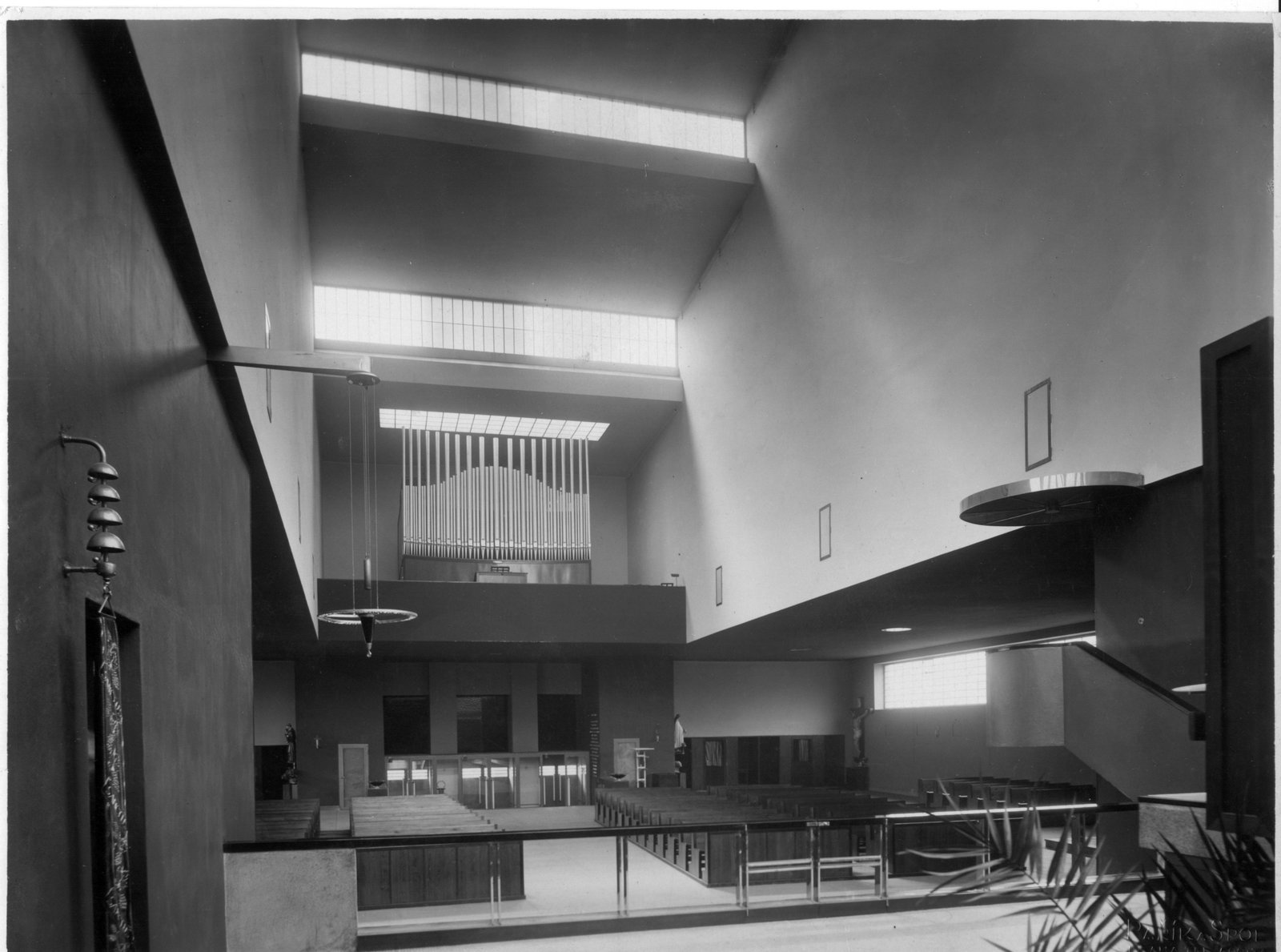 The reinforced-concrete Church of St. Wenceslas, completed in 1930.  Photo 6 of 7 in Exhibit Examines Legacy of Functionalist Architecture in Prague