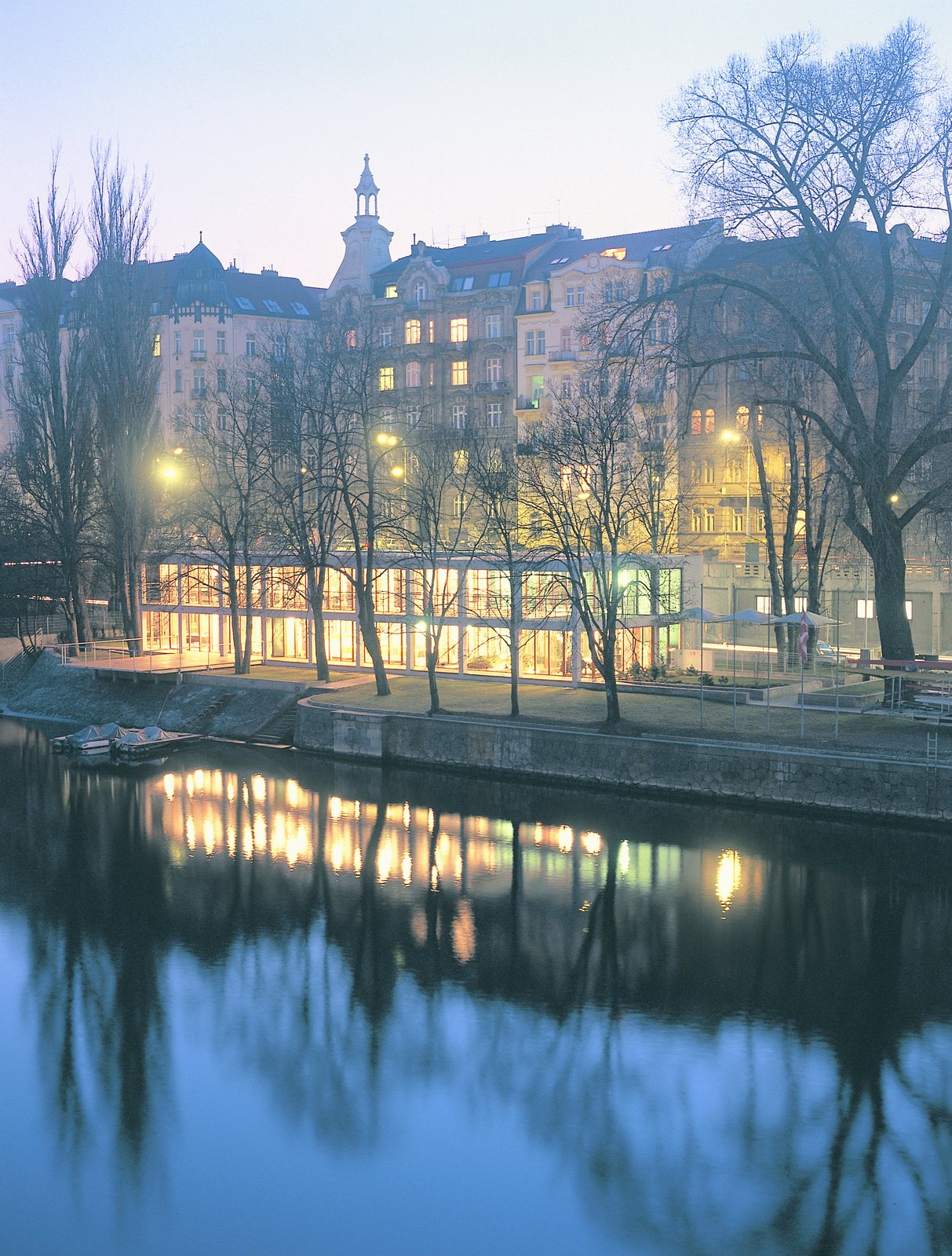 The VK Slavia Praha Rowing Club.  Photo 7 of 7 in Exhibit Examines Legacy of Functionalist Architecture in Prague