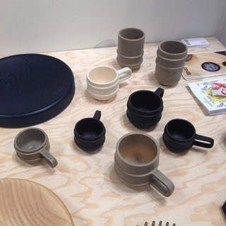 L.A. design studio 100xbtr created a 3D-printed model to cast the mold used for these ceramic mugs.