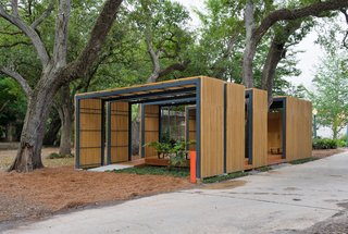 "The 1,000-square-foot pavilion was completed in 2009 as a volunteer structure and tool shed--though today its used far more by the public than initially anticipated. ""The garden was wiped out after the storm,"" McKay recalls. ""There was nothing, zero. Volunteers came in and replanted everything."" Photo by Frank Doering."