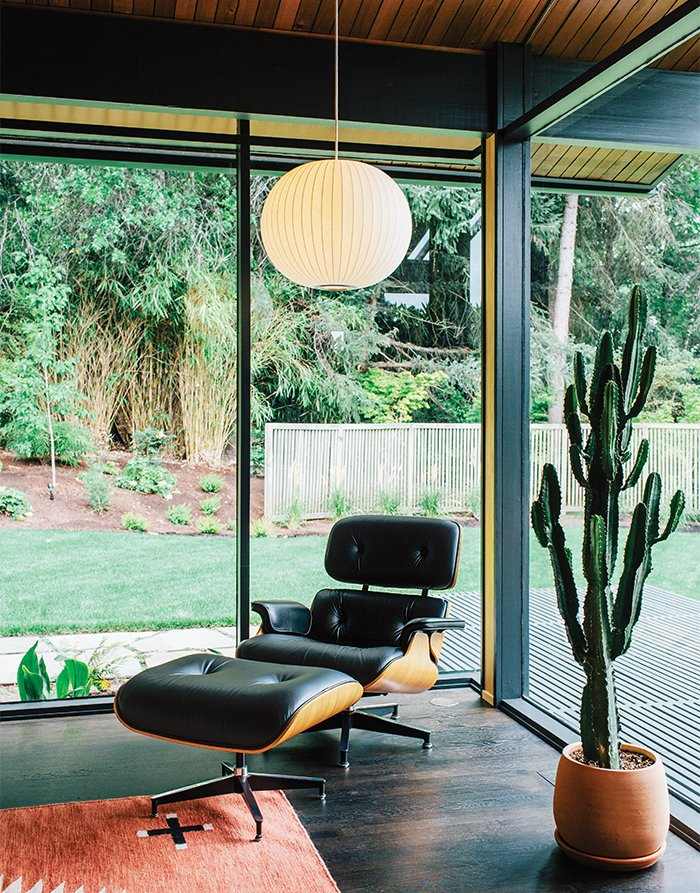 Portland midcentury renovation interior