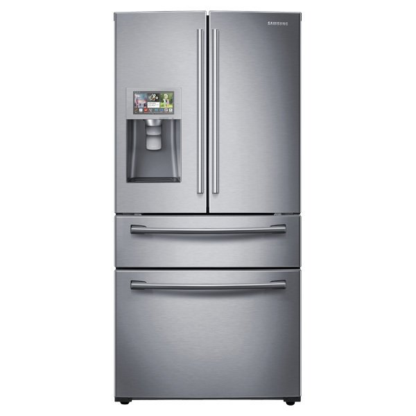 """""""If the kitchen is where most time is spent, consider a smart appliance, like Samsung's refrigerators with Wi-Fi. For a smaller commitment, a smart thermometer, like Williams-Sonoma's, can monitor cooking progress and send alerts directly to a smartphone.""""  Search """"kitchenappliances--refrigerator"""" from 5 Ways to Make Your Home Smarter"""