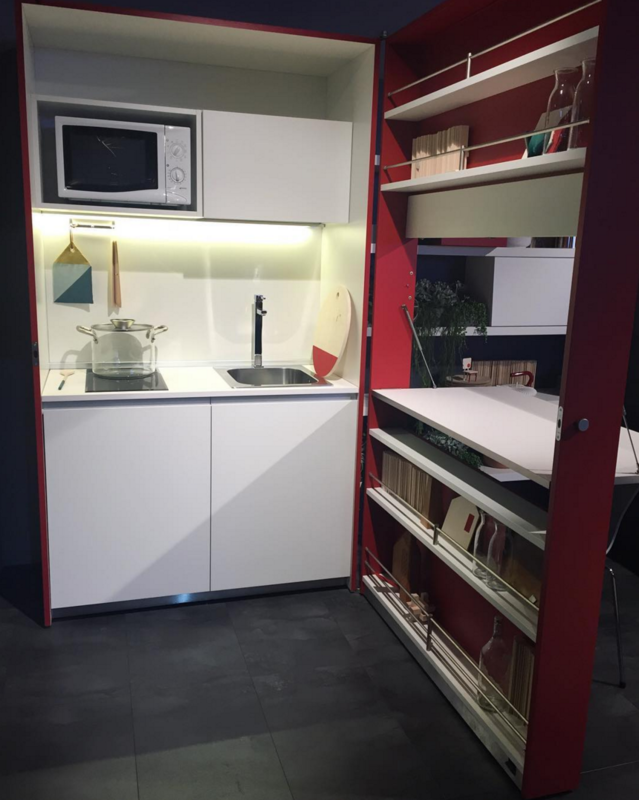 Clei's magical unfolding kitchen box is what everyone with a small apartment needs. When closed, it looks like a cabinet!