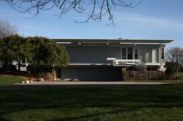 """The 1956 Cerrito House in Watch Hill, Rhode Island, was built in 1956 and demolished in 2007. Siblings Charlie and Marlene Cerrito—whose father hired Ralph Twitchell's firm, and by extension Paul Rudolph, to design the house—recall that the neighbors, who all owned Colonial mansions, hated the structure. """"The house was alive,"""" recalls Marlene Cerrito, """"and we were part of the outdoors inside. Each night as I went to sleep I got to hear the sounds of the surf."""" Photo by Chris Mottalini."""