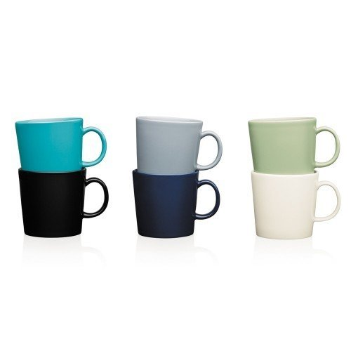 """TEEMA MUG $26.00  Adaptable to any style or use, the Teema Tableware collection designed by Kaj Franck for Iittala is based on the fundamental shapes of circle, square, triangle, and rectangle. From these enduring forms, the designer created a range of functional dishes for the home that can be used in myriad ways: from preparing the meal, heating and serving, to storing and freezing. These timeless and sophisticated pieces provide an essential form to allow the food, family, friends, and conversation to shine.  Search """"jansen co my mug espresso saucer"""" from Gift Guide: For the Coffee Lover (Snob)"""