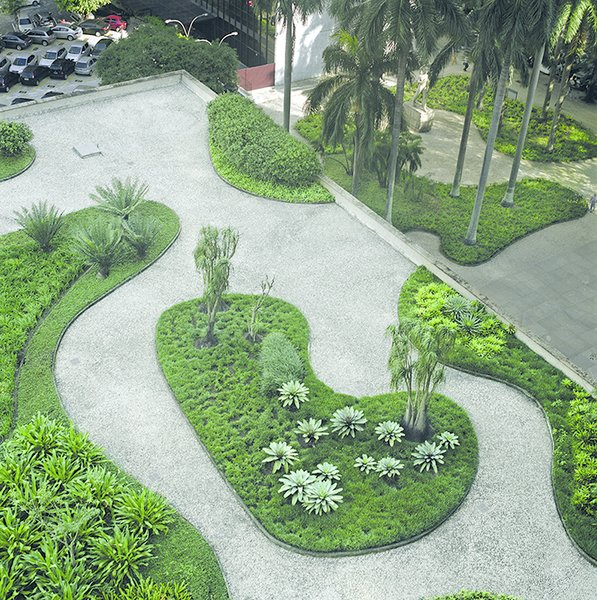 Marx's signature treatment of pavement meets tropical gardens in the design of Rio's Ministry of Education and Public Health, which was among the first public projects to prioritize native plants. Here, Marx also foresaw another trend: green roofs.