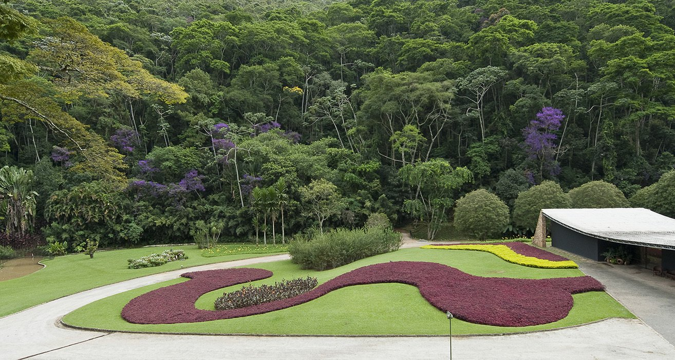 The landscape Marx designed for Gustavo Cavanellas in Petropolis, Brazil, was revolutionary: rather than a structured garden, he opted for bold swathes of graphic color made from then-unfashionable local plants.  Photo 4 of 5 in (Not-So) Garden Variety Lessons From the Father of Modern Landscape Design
