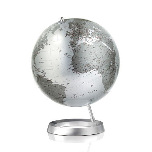 FULL CIRCLE VISION GLOBE  Tecnodidattica Ligure has been producing some of the world's finest globes for more than half a century. Among them is its collection of Atmosphere globes, conceived by revered Danish designers Claus Jensen and Henrik Holbaek. Each meticulously detailed globe is blown much like glass and assembled by gifted craftsmen in Italy.
