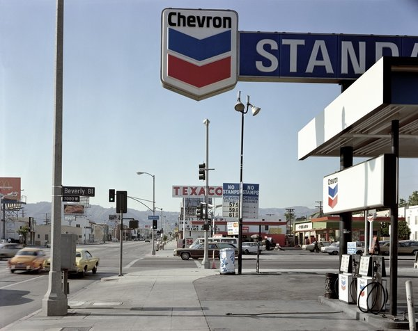 Stephen Shore: Beverly Boulevard and La Brea Avenue, Los Angeles, California, June 21, 1974 (1974)