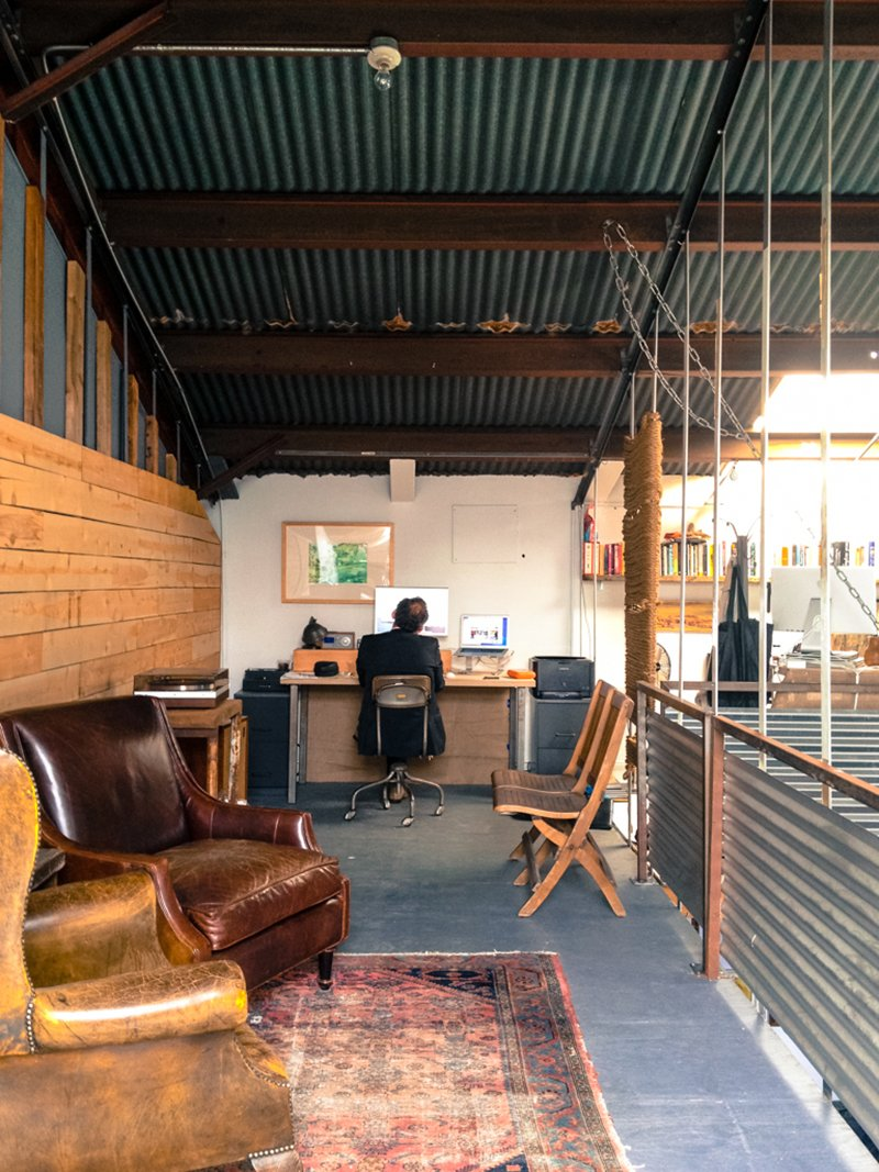 Venice has always been a community that embraces art, grit and anything that's a bit rough around the edges. This, Anderson and Woitunski say, has always been the foundation of the local culture and the way people have created their spaces in the area. Photo by Marc Alt  Modern Mezzanines by William Lamb from Number Five: A Co-Working Space in Venice Beach