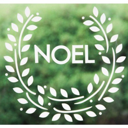 Noel Wreath Decal  For no fuss decor this repositionable, removable and reusable decal adds the perfect festive touch with no real cleanup and takes up virtually no storage.