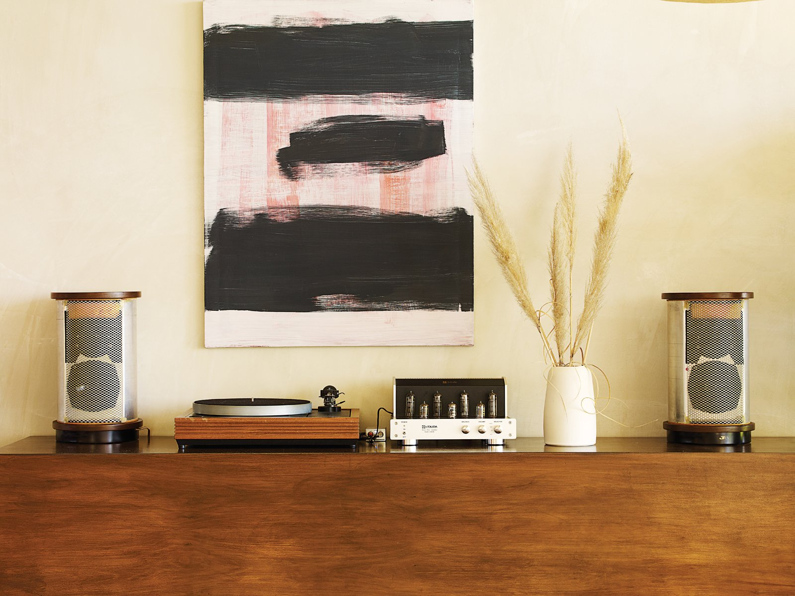 Modern Stereo Setups by William Lamb from How a Bungalow Went from Bland to Brilliant
