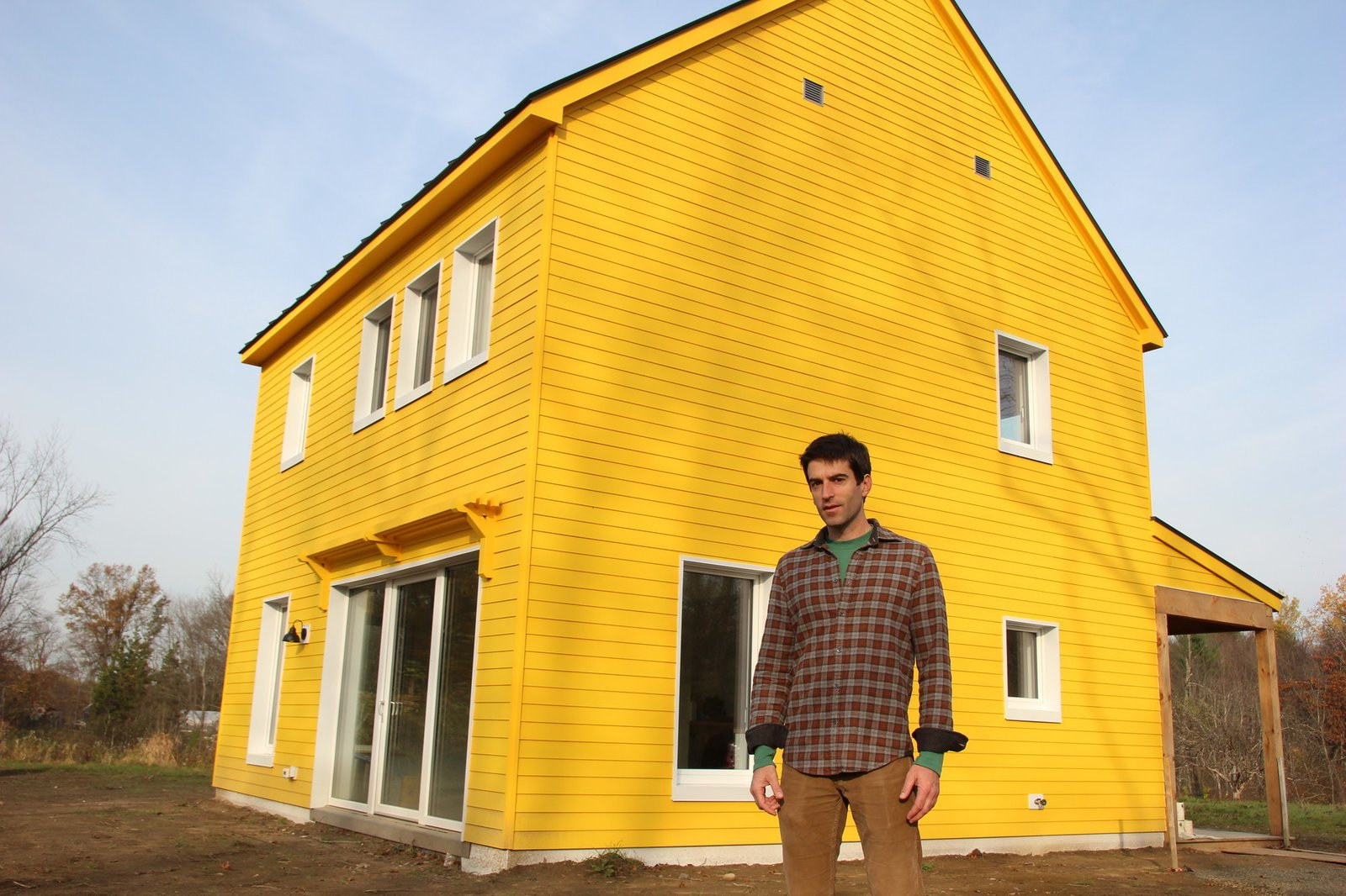"""Arango worked with Maine-based firm GO Logic on the design and construction of the house.  Search """"passive-design"""" from Professor Teaches Physics with his Solar-Powered House"""