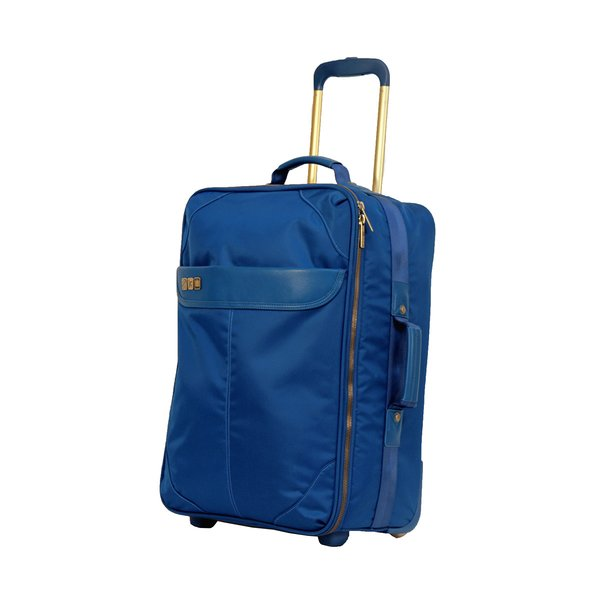 Inspired by the glamorous luggage that accompanied travelers in the 1960s, Flight 001's Avoinette Carry-On Suitcase will have you traveling in style. This luggage includes front and rear zippered magazine pockets, top and side handles, a trolley handle, an additional bag strap, and silent moving wheels.