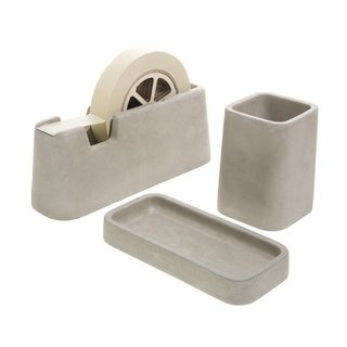 Flaunt your seriousness at work with the Concrete desk set by Magnus Pettersen. $600