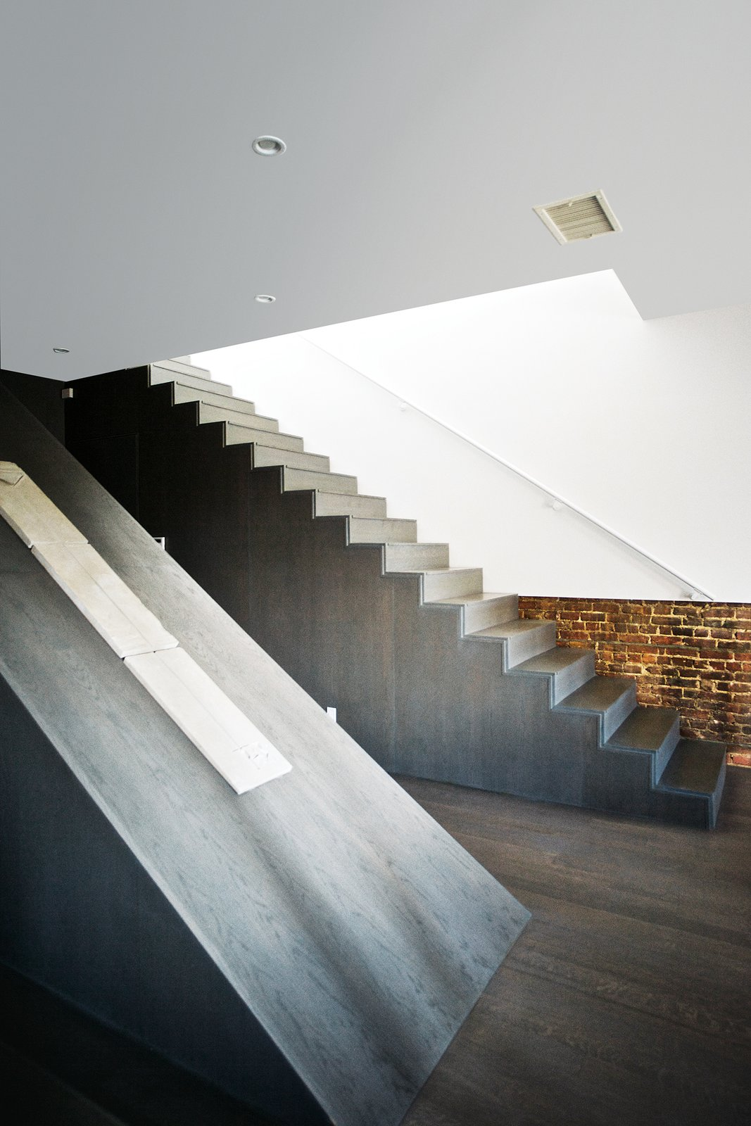 """The older the building, the more you can adhere to older codes, which gives you more liberty,"" says Gil, who heads the architecture firm Spacecutter.  190+ Best Modern Staircase Ideas from A Brooklyn Couple Rehabilitate a 19th-Century Duplex"