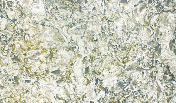 Silestone Quartzite by Cosentino  Based in Spain, Cosentino produces the granitelike Ocean series of Silestone quartzite surfaces, shown here in Pacific.