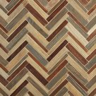 AnTeak by Walker Zanger  AnTeak, by Walker Zanger, is made of FSC-certified reclaimed wood. It comes in seven patterns, from herring-bone (above) to penny tile.