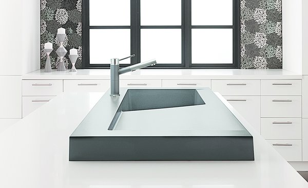 Modex by Blanco, $1,750Rising only three inches above the countertop, the Red Dot Award–winning Modex features an integrated drainboard. The engineered material, which is 80 percent granite, is scratch- and stain-resistant.