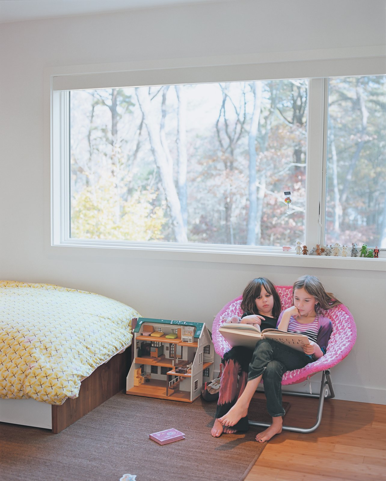 Kids Room and Bedroom Room Type The four children divide themselves among three Blu Dot–furnished bedrooms and two bathrooms located off the second-floor hallway.  Blu Dot Spotted from Kid Tested, Mothers Approved