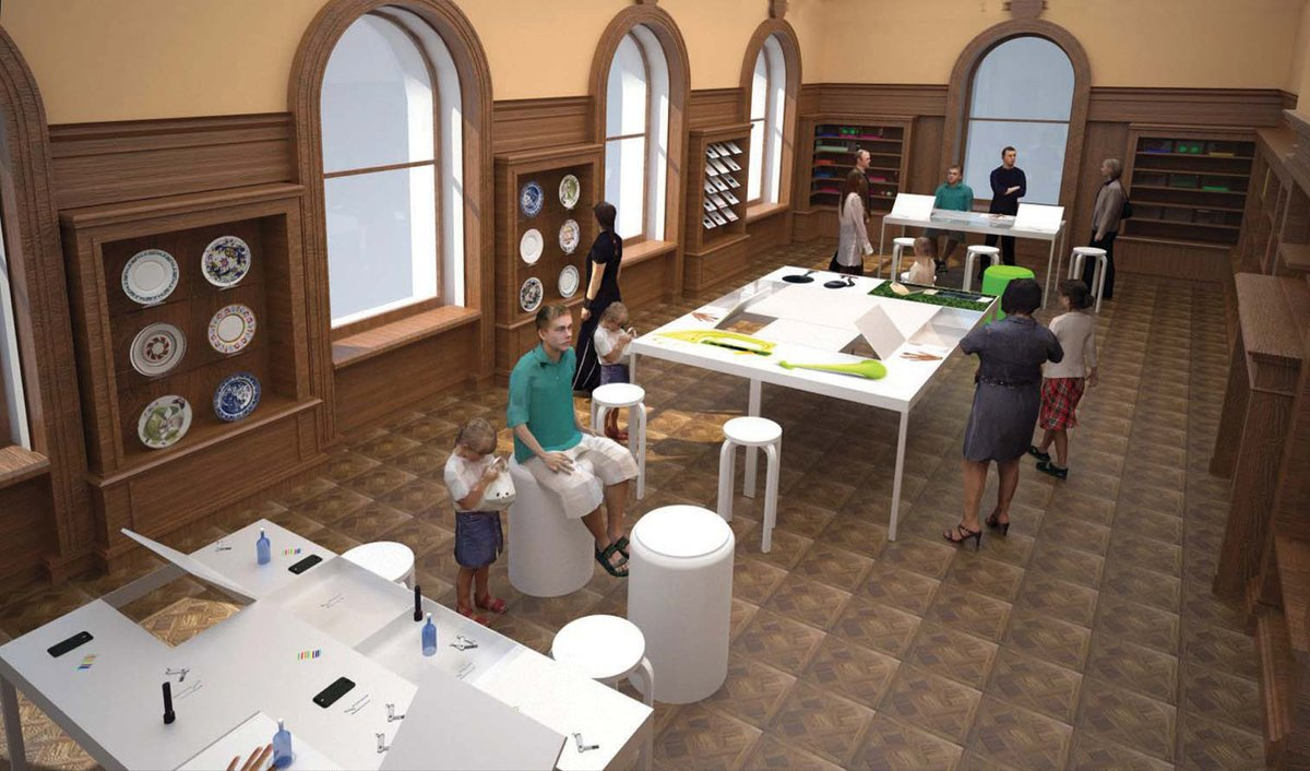 In the mususem's new iteration, a Process Lab will allow visitors to brainstorm design solutions through hands-on activities.  Photo 2 of 2 in Cooper-Hewitt National Design Museum Renovation