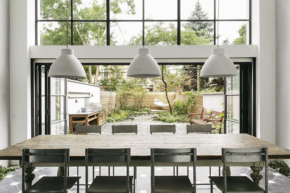 Articles about light filled brooklyn townhouse features large indoor outdoor space entertaining on Dwell.com