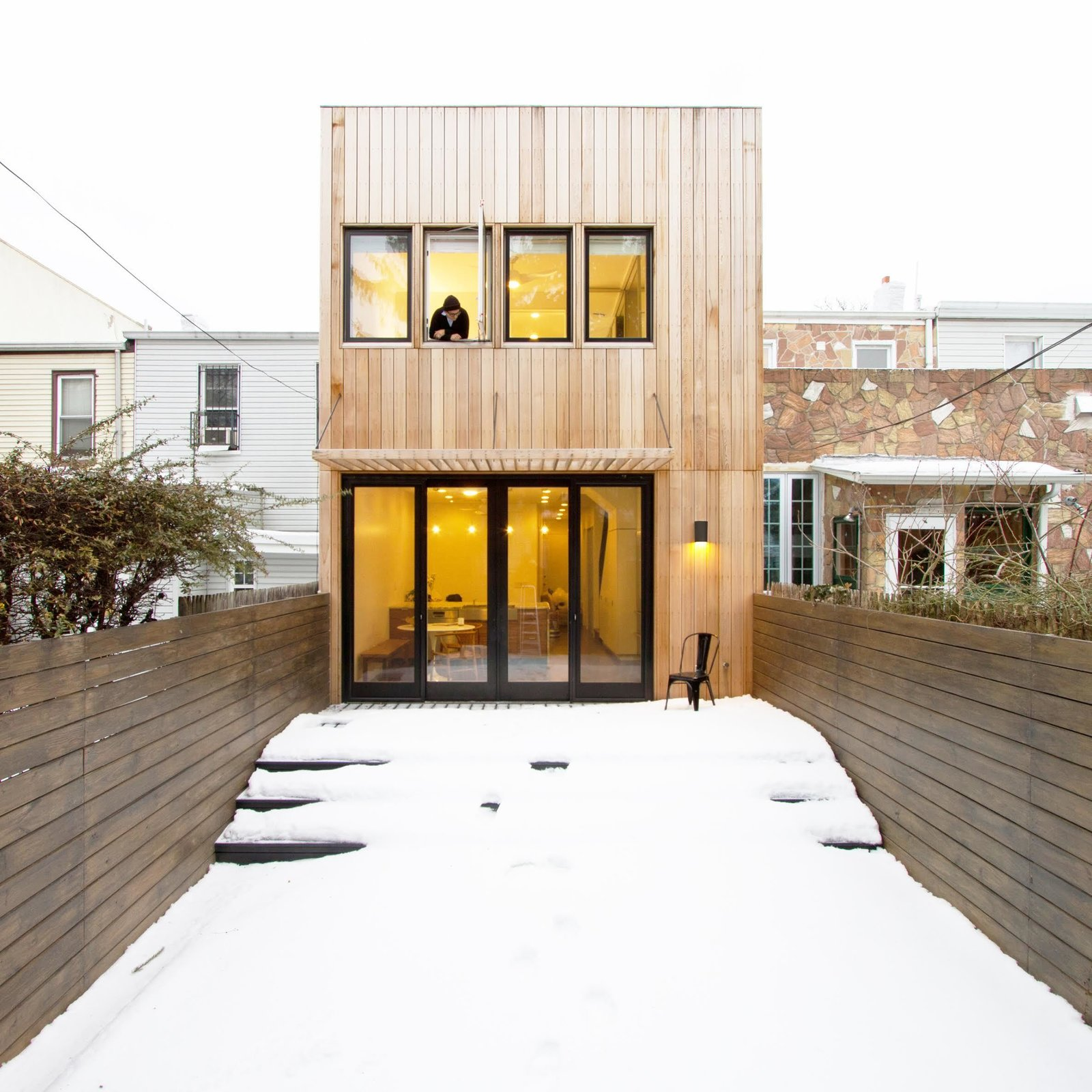 """Aniket Shahane of OA muses, """"...the building becomes much more an active participant in the lifecycle of its inhabitants, encouraging them to stay longer, maintain their property, and contribute to a culture that is truly sustainable.""""  New York City Row House Renovations We Love by Zachary Edelson"""
