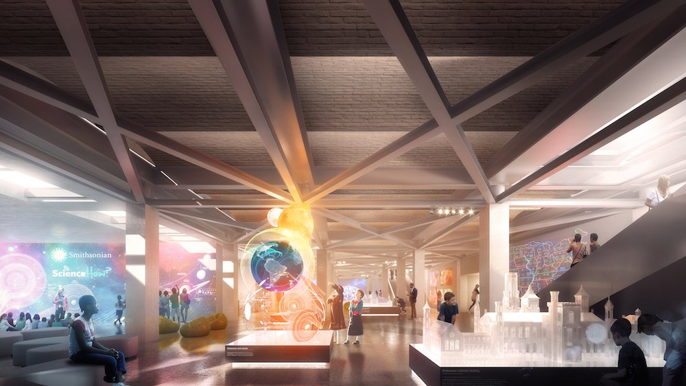 The plan also calls for a more visible entrance to the interactive Ripley education center, to help draw more crowds to the underground exhibit.  Photo 8 of 8 in BIG Presents New Vision for Smithsonian Campus in Washington