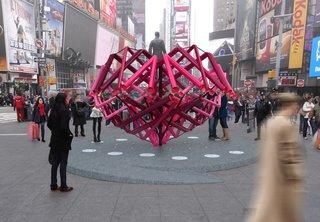 Brooklyn Design Studio Wins Annual Times Square Heart Competition