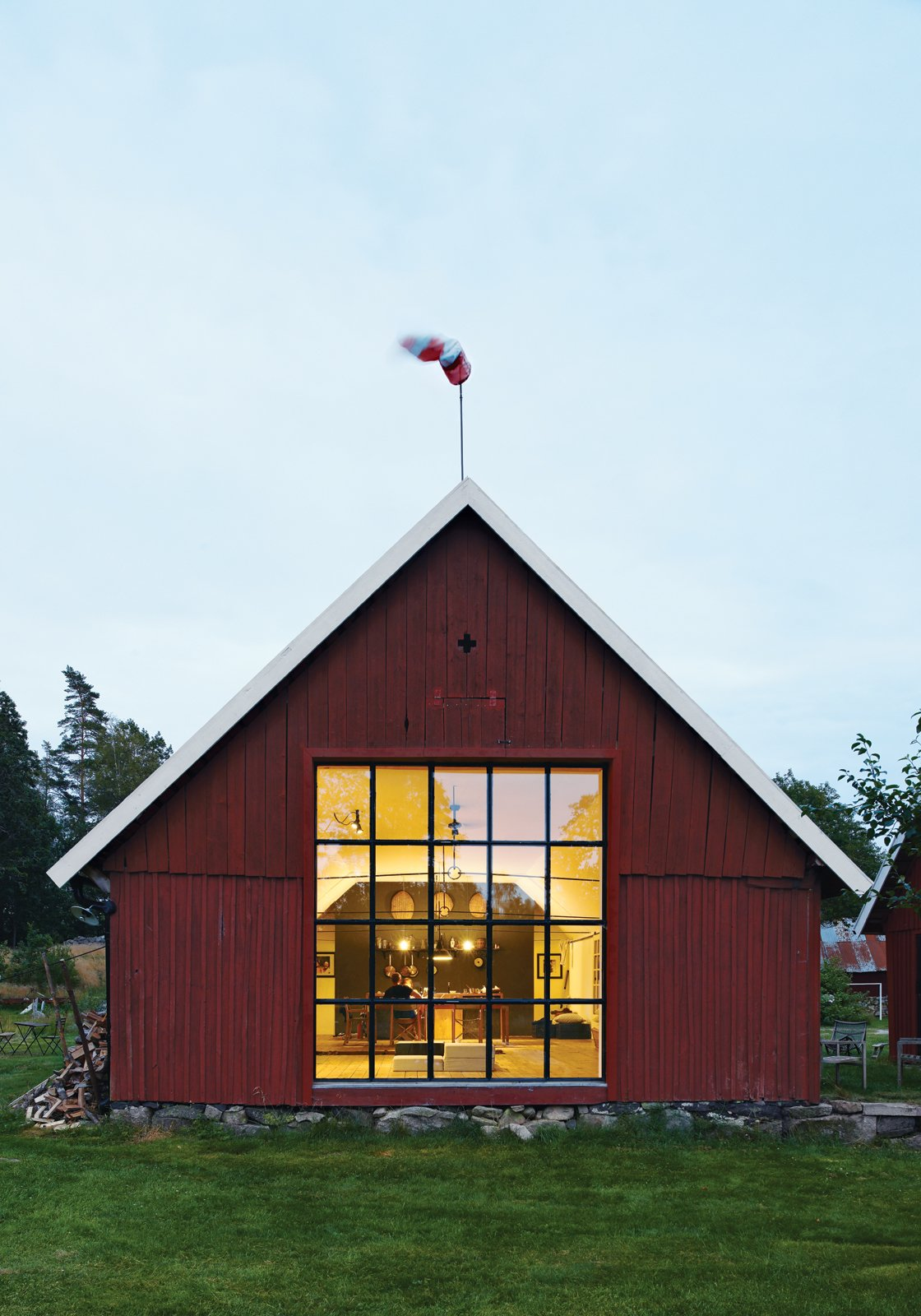 """""""When you're working on something inexpensive and then decide you don't like it, fine. You're not tearing down millions of kroners worth of work."""" —Mette Lyng Hansen  Renovations from Modern Meets Traditional in a Swedish Summer House"""