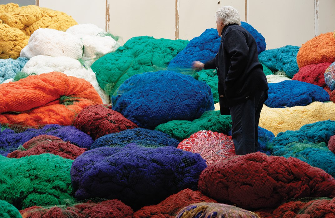 Photo 1 of 1 in Sheila Hicks's Sunbrella Color Riot in Paris
