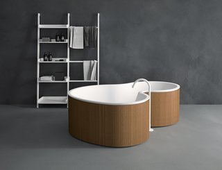 Brazilian-Influenced Organic Modern Bathtub for Italian Company Agape