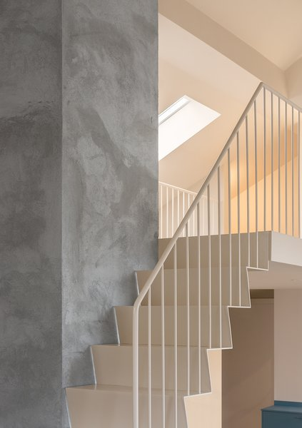 """We took away a very thick, heavy staircase that led to the loft, and designed one that had a much lighter look,"" Wåhlin says. ""The new one, made of steel, looks simple and indeed light—but is in fact super heavy and was a real challenge to construct."""