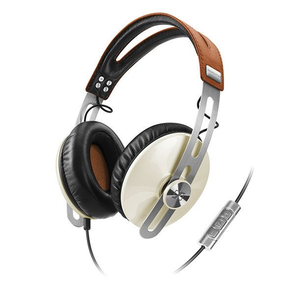 Sennheiser gave its new Momentum headphones, which it unveiled at CES this year, an unabashedly retro look. The phones, which the company says offer superior sound, come equipped with volume and mute controls on the cord. Momentum has a suggested retail price of $349. Photo courtesy of Sennheiser.
